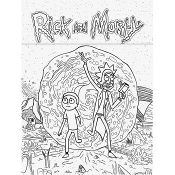 Раскраска Рик и Морти - распечатать, скачать бесплатно