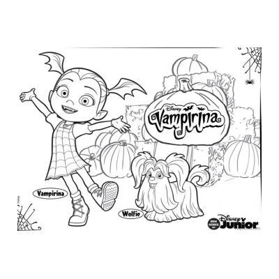 Раскраска Вампирина (девочка вампир) - распечатать, скачать бесплатно