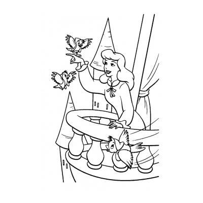 Раскраска Золушка (Дисней)  - распечатать, скачать бесплатно