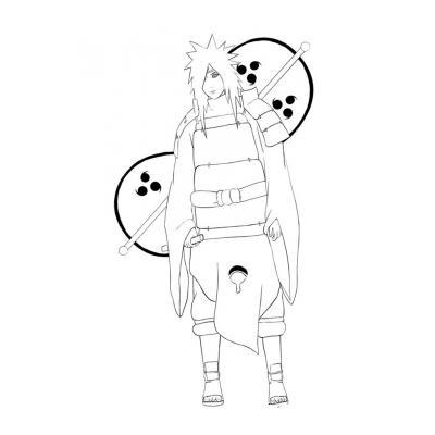 Раскраска героев аниме Наруто