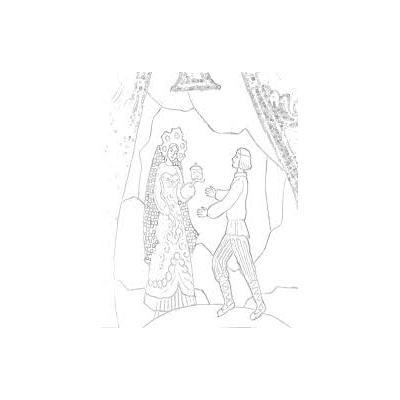 Распечатать раскраску к сказке Хозяйка медной горы