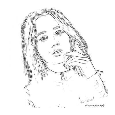 Клава Кока черно белая картинка