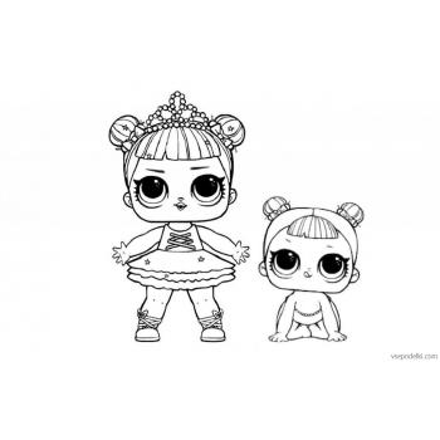 Раскраски ЛОЛ - маленькие сестрички - распечатать, скачать бесплатно
