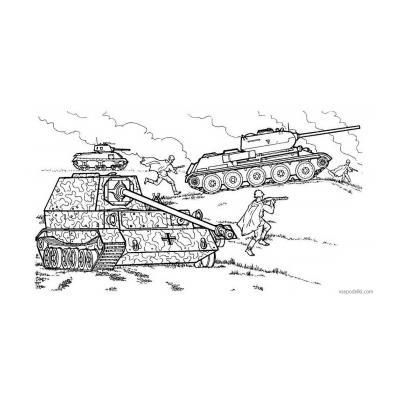 Раскраски про войну для детей - распечатать, скачать бесплатно