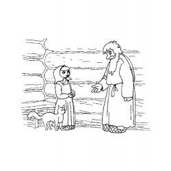 """Раскраска к сказке Бажова """"Серебряное копытце"""" - распечатать и скачать"""