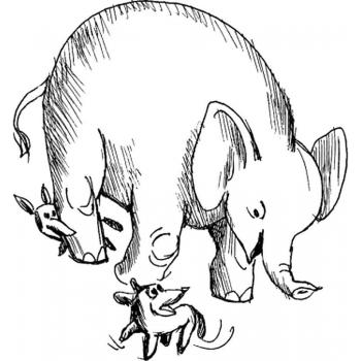 Раскраска Слон и Моська - распечатать, скачать бесплатно
