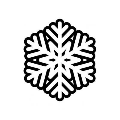 Распечатать раскраску Снежинка