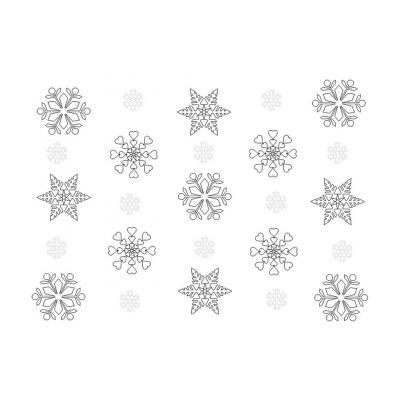 Раскраска снежинка