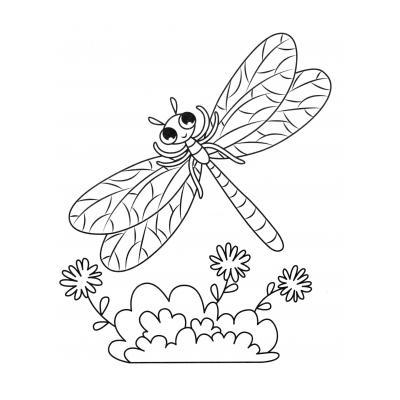 Раскраска Стрекоза и муравей - распечатать, скачать бесплатно