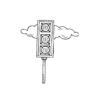 Раскраска светофор для детей