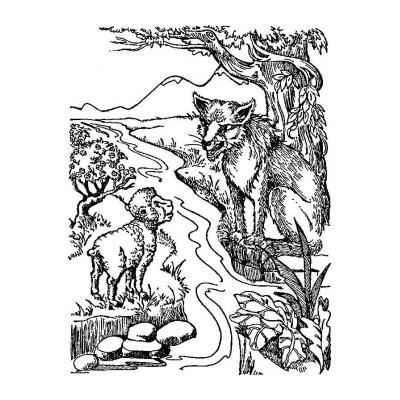 Раскраска Волк и Ягненок - распечатать, скачать бесплатно