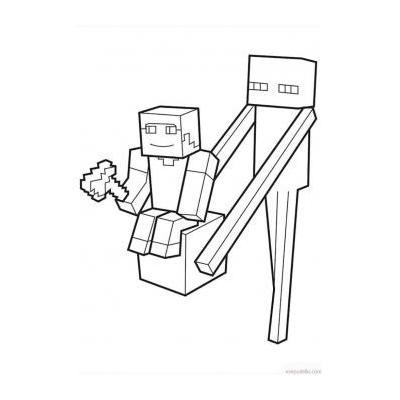 Раскраска Майнкрафт для мальчиков