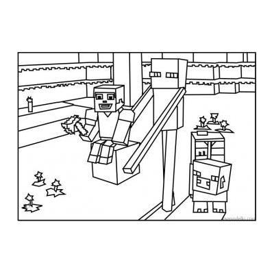 Майнкрафт - раскраска для детей