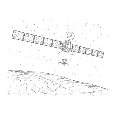 сложная раскраска космос