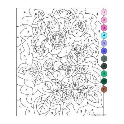 Раскраски по номерам для взрослых - распечатать, скачать бесплатно