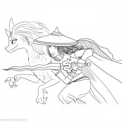 Раскраска последний Дракон