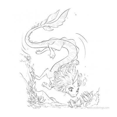 Раскраски Райя и последний Дракон Сису - распечатать, скачать бесплатно