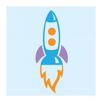 Раскраска ракета для детей 3 лет