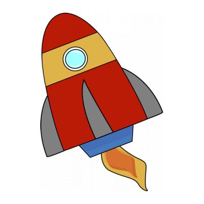 Раскраска ракета для детей 6 лет