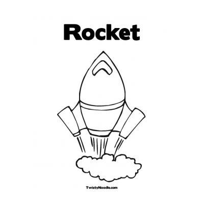 Раскраска ракета для детей 4 лет