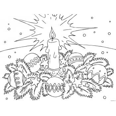 Раскраска Ангел Рождество