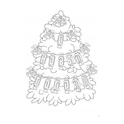 Раскраска Новогодняя ёлка