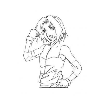 Раскраска аниме Сакура Харуно