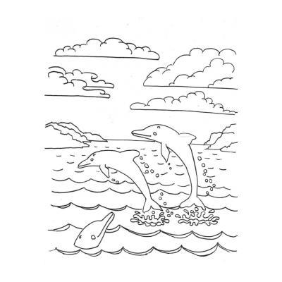 Раскраска море