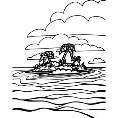 Раскраска океан