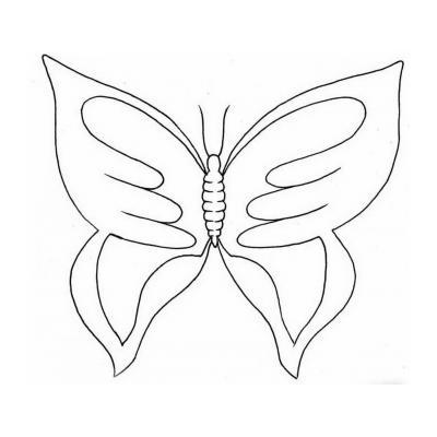 Трафарет бабочки