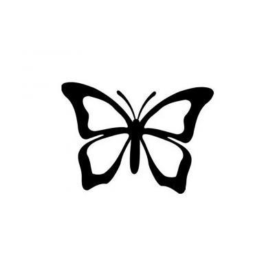 Шаблон бабочки для аппликации