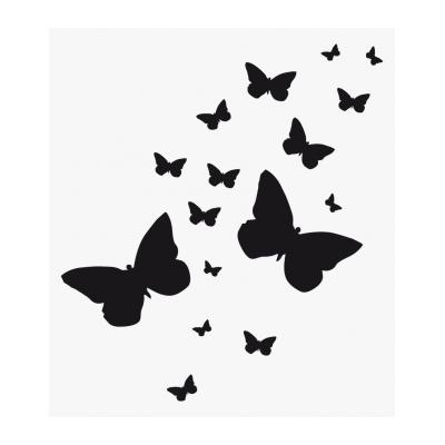 Трафарет бабочка