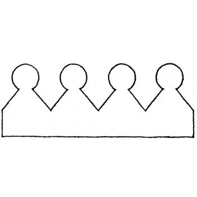 Шаблон корона с зубчиками