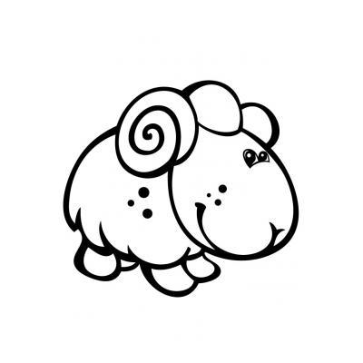 Раскраска с овцой