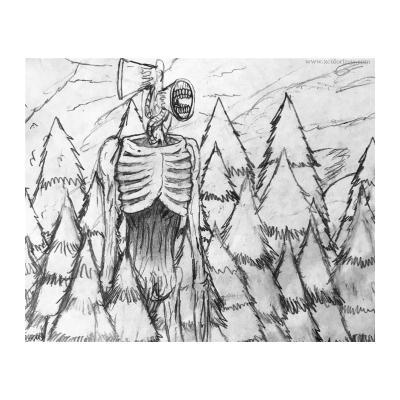 Раскраска Сиреноголовый монстр