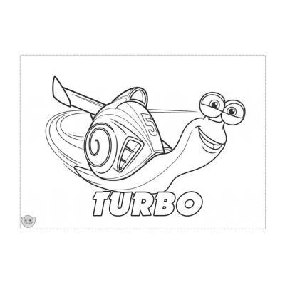 Раскраска улитки Турбо - распечатать, скачать бесплатно