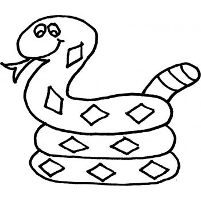 Распечатать раскраску со змеей