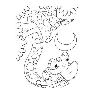 Как раскрасить змею