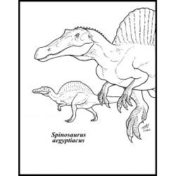 Спинозавр на охоте