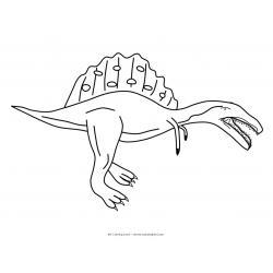 Раскраска спинозавр