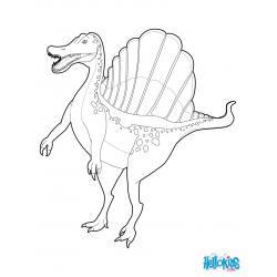 Спинозавр - раскраска для детей