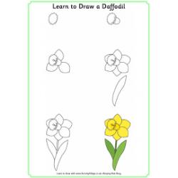 Рисунок весна для срисовки