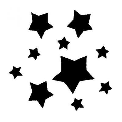 Шаблон большая звезда