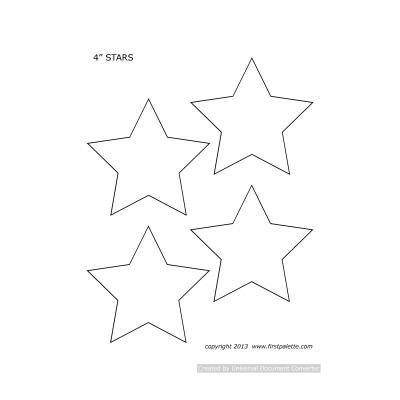 Шаблон звезды неправильной формы