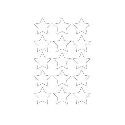 трафарет звезда на окно