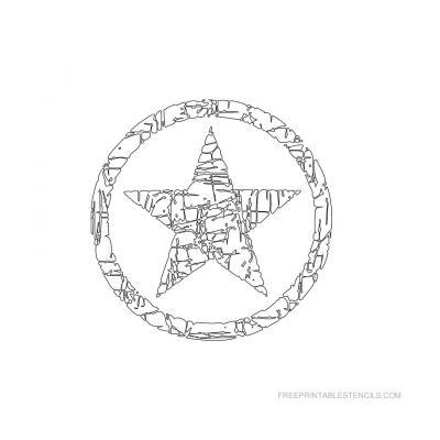 вытынанка звезда