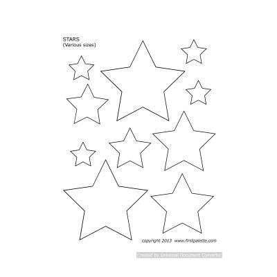 шаблон простой звезды