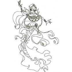 Раскраска Фея Стелла из Винкс