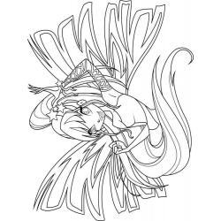 Раскраска Winx Club Блум