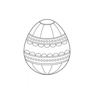 трафарет пасхального яйца для вырезания из бумаги